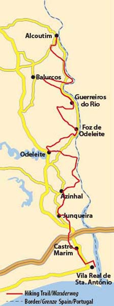 Walks In Portugal Rota Vicentina Long Distance Trail - Portugal map distances