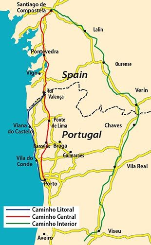 Wandern In Portugal- Jakobsweg Caminho Portugues