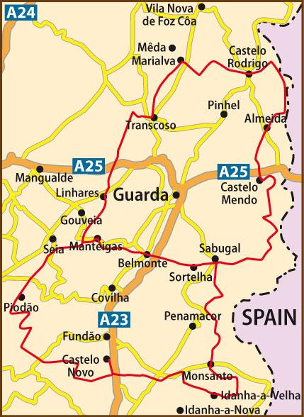 aldeias históricas de portugal mapa WIPortugal GR22 Historical Villages aldeias históricas de portugal mapa